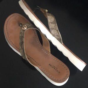Coach flip flop